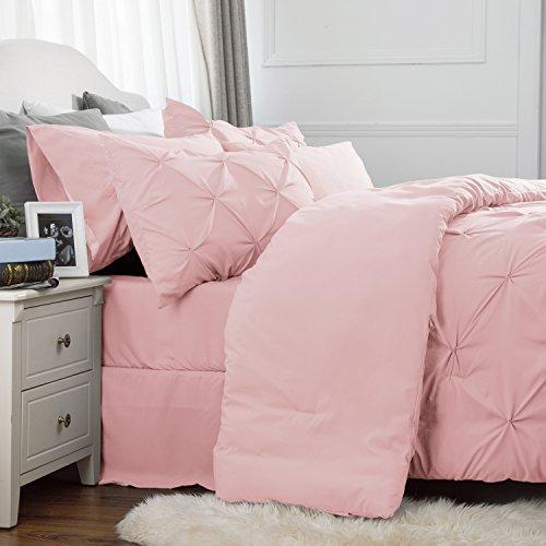 Bedsure 6 Piece Comforter Set Pink Comforter Sets