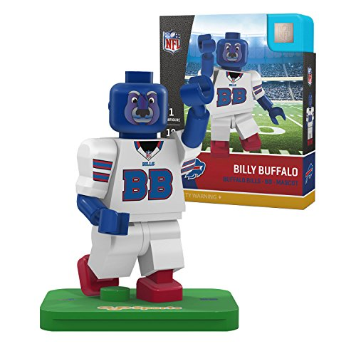 OYO NFL Buffalo Bills Gen4 Limited Edition Billy The Mascot Mini Figure, Small, White Buffalo Bills Team Mascot Football