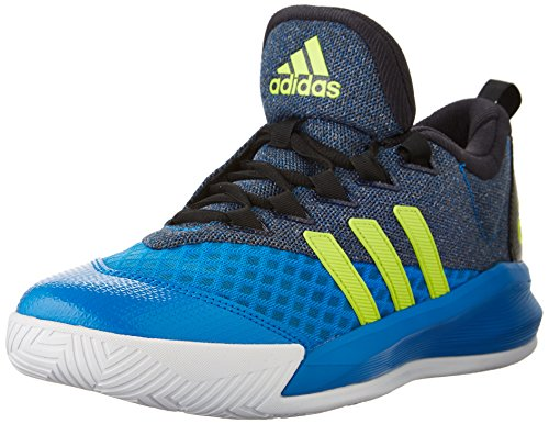 Adidas Prestaties Mens Crazylight 2,5 Actieve Basketbalschoen Zwart / Semi Zonne Slijm / Shock Blue