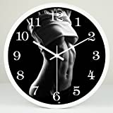 CCYYJJ Wall Clock Sport Mute Studio Creation Of Watches And Clocks House Decoration Practice Wall Clock Art Creative Meditation Mode Mute Watches And Clocks (Color # 2, Size: 30Cm)