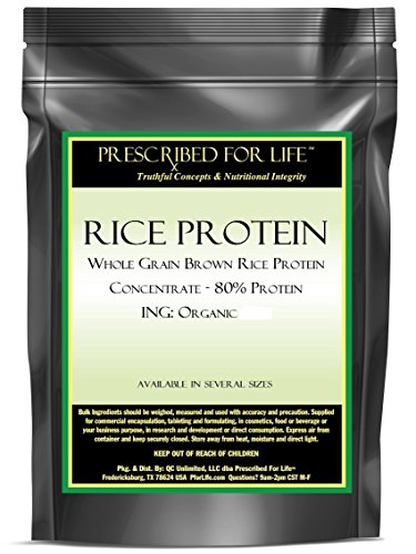 Rice Protein - Whole Grain Brown Rice Protein Concentrate - 80% Protein ING: Organic Powder, 55 lb (Brown Rice Protein Concentrate compare prices)