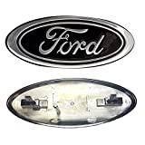 grille badges - 2005-2007 Ford F250/F350 Super Duty Black Oval 9