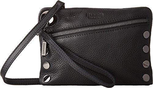 Hammitt Women's Nash Small Black/Gunmetal One Size - Ultra Suede Clutch