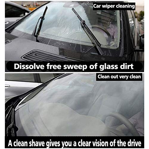 Oyamihin Limpiador de Vidrio de limpiaparabrisas sólido para Autos duraderos Limpiador de vidrios de Alto Rendimiento para Autos Limpiador de vidrios para ...