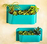 A Ting Blue Wall Pocket File Key Organizer Holder,set of 2
