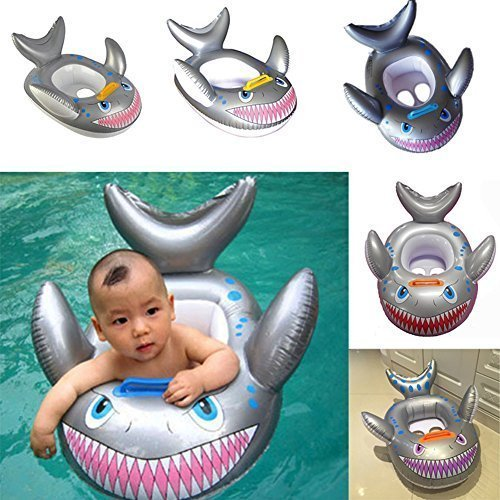 YOOMUN Inflatable Shark Baby Kids Toddler Infant Swimming Float Seat Boat Pool Ring -- 3 Years Old and Up YOOMUN TOY