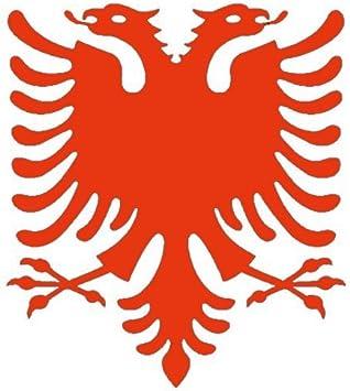 2x Adesivo per auto 2x Car Sticker aquila Shqip/ë Albania. 11 x 11 cm, blu