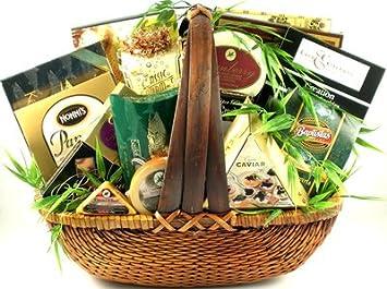 a higher class premium gourmet food gift basket