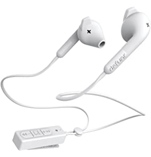 Defunc Bluetooth HYBRID In-Ear Headphones Earbud with Mic and Remote | White