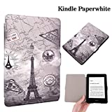 Zaneeta®Case for Amazon Kindle Paperwhite Case, Premium Coloured drawing and Slim Light Weight Folio Protective Leather Cover with Auto Wake/Sleep for Amazon Kindle Paperwhite.