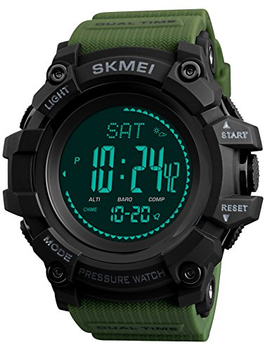 Mens Military Digital Sports Watch Altimeter Barometer Compass Outdoor Army Fitness Pedometer Activity Tracker