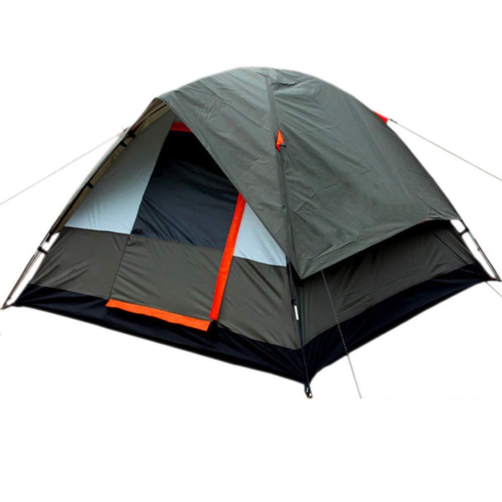 DLLzq Automatisches Pop Up Doppelzelt 3-4 Personen Tragbare Schatten Und Wasserdicht Für Familiengarten Camping Picknick Angeln Zelt