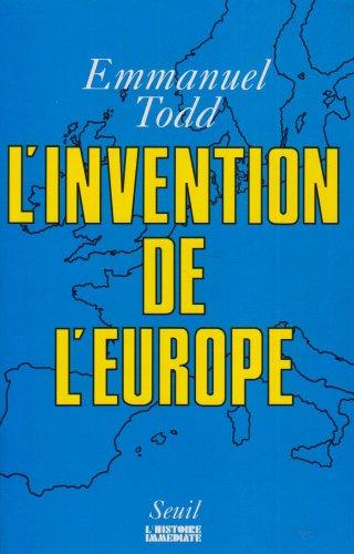 L'invention de l'Europe (Hist.Immed)