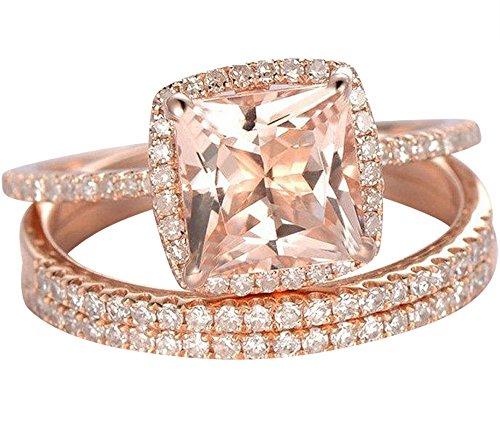 Band Morganite Ring - 8
