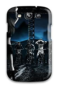 Galaxy Case - Tpu Case Protective For Galaxy S3- Motocross Race Line