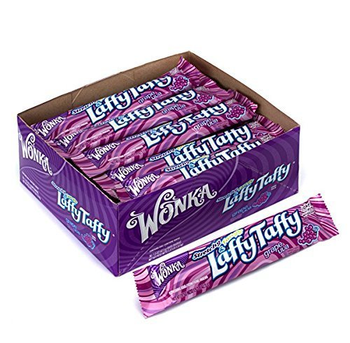 Wonka Stretchy & Tangy Laffy Taffy, Grape Uva, 1.5-Ounce Packets (Pack of 36)
