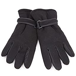 Stylish Outdoor Sports Cycling 3-Layer Coral Velvet Thicken Full-Finger Gloves - 4 Colors (Free Size / Pair)