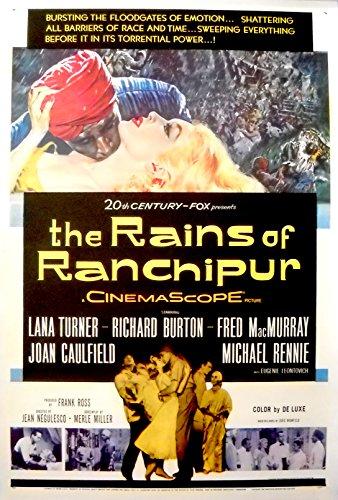 THE RAINS OF RANCHIPUR MOVIE POSTER-Richard Burton/Lana Turner-1SHT (Lana Turner Poster)