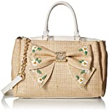 Betsey Johnson Daisy'D and Confused Bow Satchel, Natural