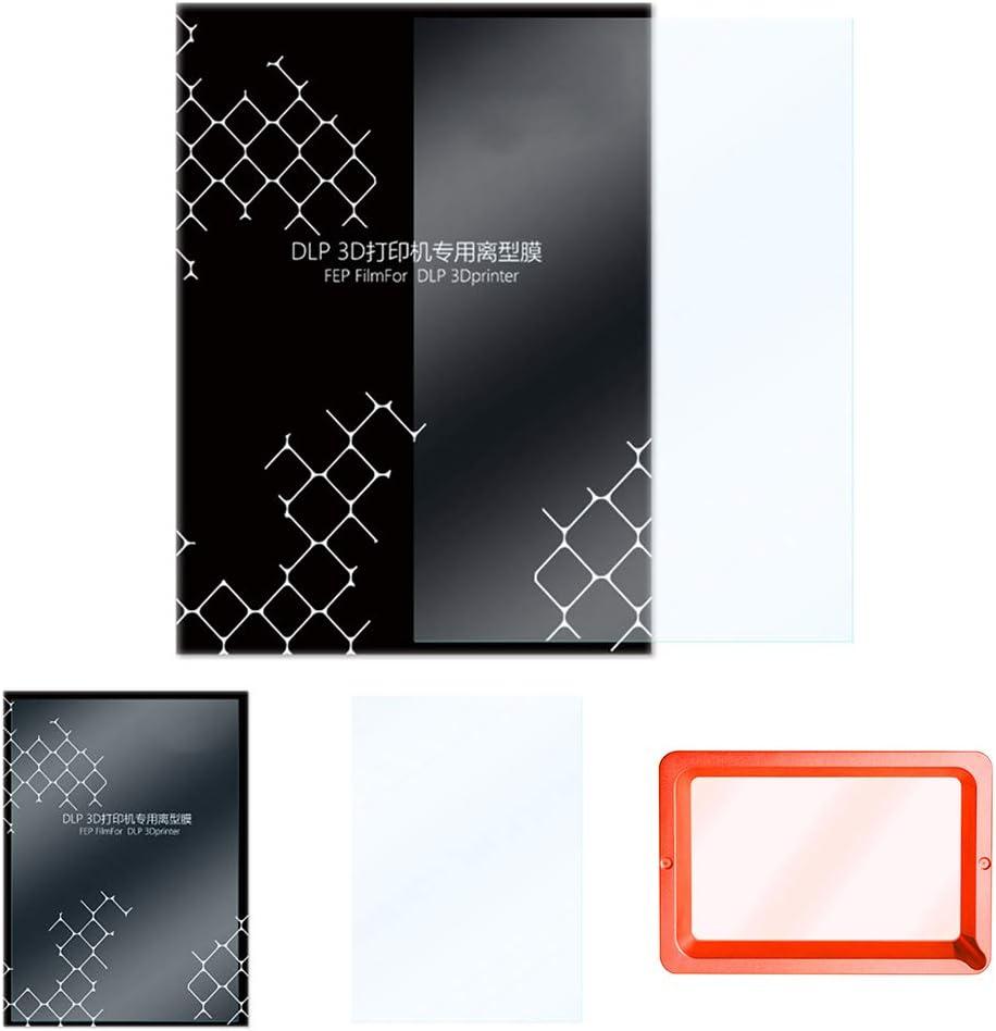 3dsll88 FEP Film 5 Pcs Durable 3D Printer Filaments Impresora / 0.15-0.2mm Resin 140x200mm Better Light Transmission for LCD Sth Surface