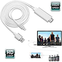 HDMI TV Cables,1080P Lightning to HDMI Cable Connector,Linkshare HD High Speed HDTV Converter Adapter for iPhone 5 5S 6 6S 7 7Plus,iPad -- PLUG&PLAY/HOT SWAP,Silver