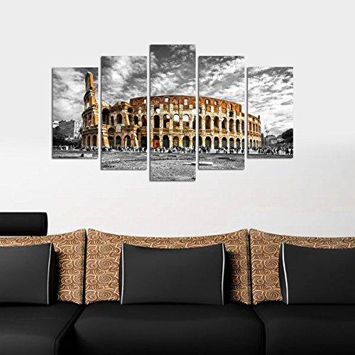 Mdf Panels Decorative (LaModaHome Decorative 100% MDF Wall Art 5 Panels (43