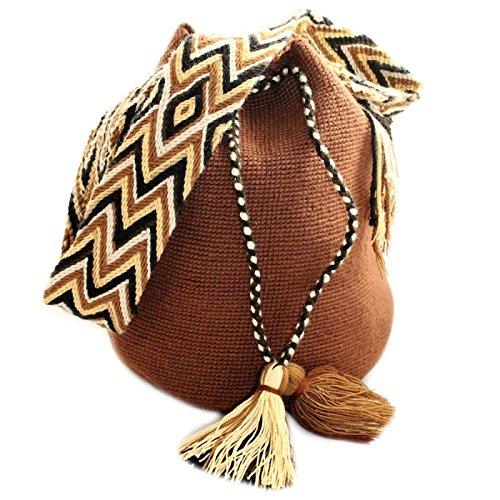 Bolso, Mochila Wayuu Original - Marrón- Diseños exclusivos - Estilo - Wayuu-104: Amazon.es: Zapatos y complementos