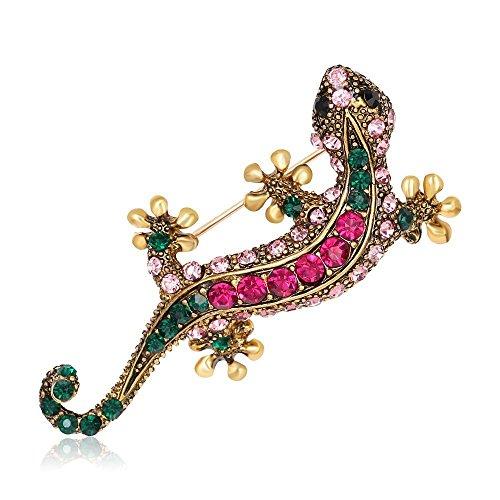 Lizard Shape Gift Rhinestone Charm Brooch Cloth Decoration Fashion Jewelry Pin