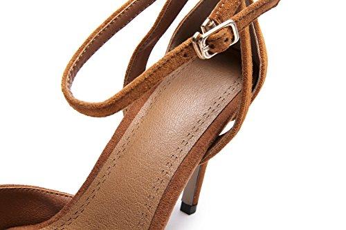 Marron Femme Sandales Compensées 1TO9 Inconnu 5 36 Marron EU wq67qvX