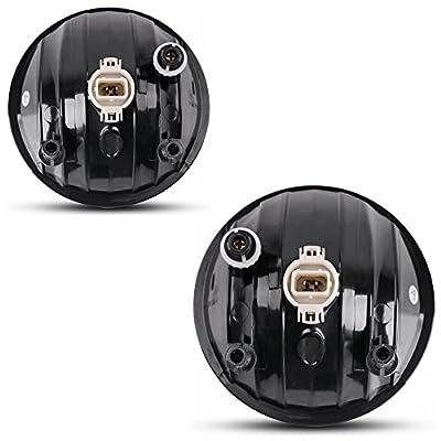 Fog Lights Compatible with GMC Sierra 1500 2007-2013 Sierra 2500 3500 2007-2014 (OE Style Clear lens w/ 5202 PS 12V 37.5W Bulbs): Automotive