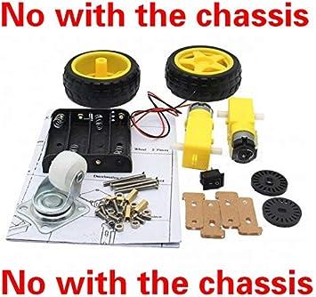 NO LOGO WJN-Motor DC3-6V TT Motor 125 RPM//Smart Auto-R/äder for Arduino DIY Kit kit 2WD intelligente Roboter-Auto Nein mit dem Chassis Kit 1 Farbe : 125 RPM, Gr/ö/ße : DC3 6V