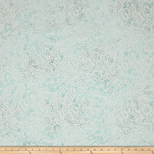 nfetti Leaves Cream/Blue Fabric By The Yard (Confetti Batik)
