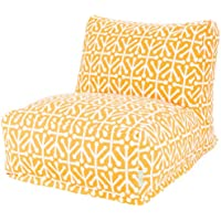 Majestic Home Goods Aruba Bean Bag Chair Lounger, Citrus