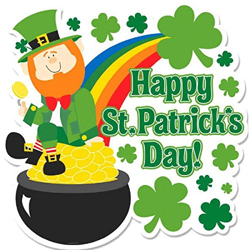 Amscan St. Patrick's Day Leprechaun And Pot Of Gold Cutout | Party Decoration]()