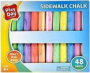 Play Day 48-Piece Won't Roll Away Sidewalk Chalk (2-Count - 96 Pieces)