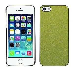 PC/Aluminum Funda Carcasa protectora para Apple Iphone 5 / 5S Texture Green / JUSTGO PHONE PROTECTOR