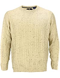 Argyle Culture Mens Cable Knit Acrylic Sweater, Color Options