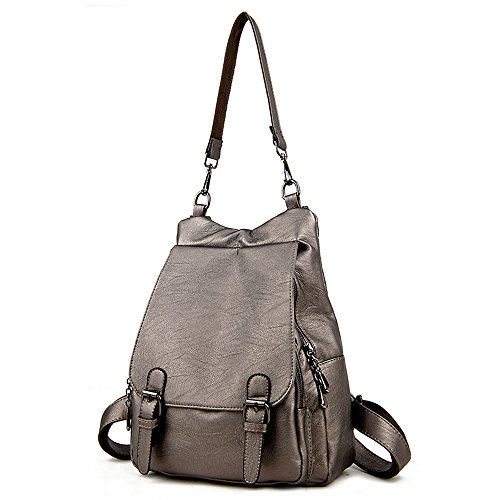 (jvp1062-b) Large Capacity Bag Leather Women Fashion For Girls Fashion Bag Waterproof School Backpack Cute Light Gold