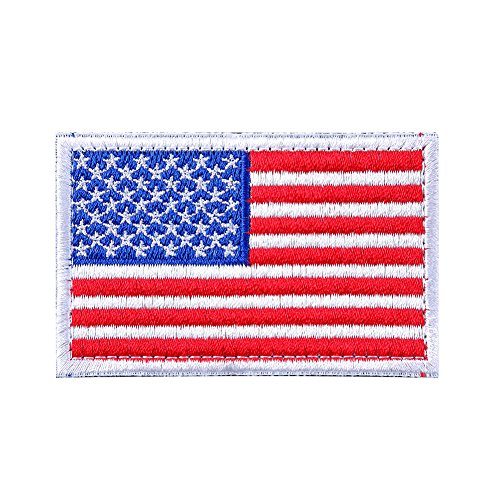 BX warehouse Tactical USA Flag Patch (red white&blue 1) (Velcro Usa)