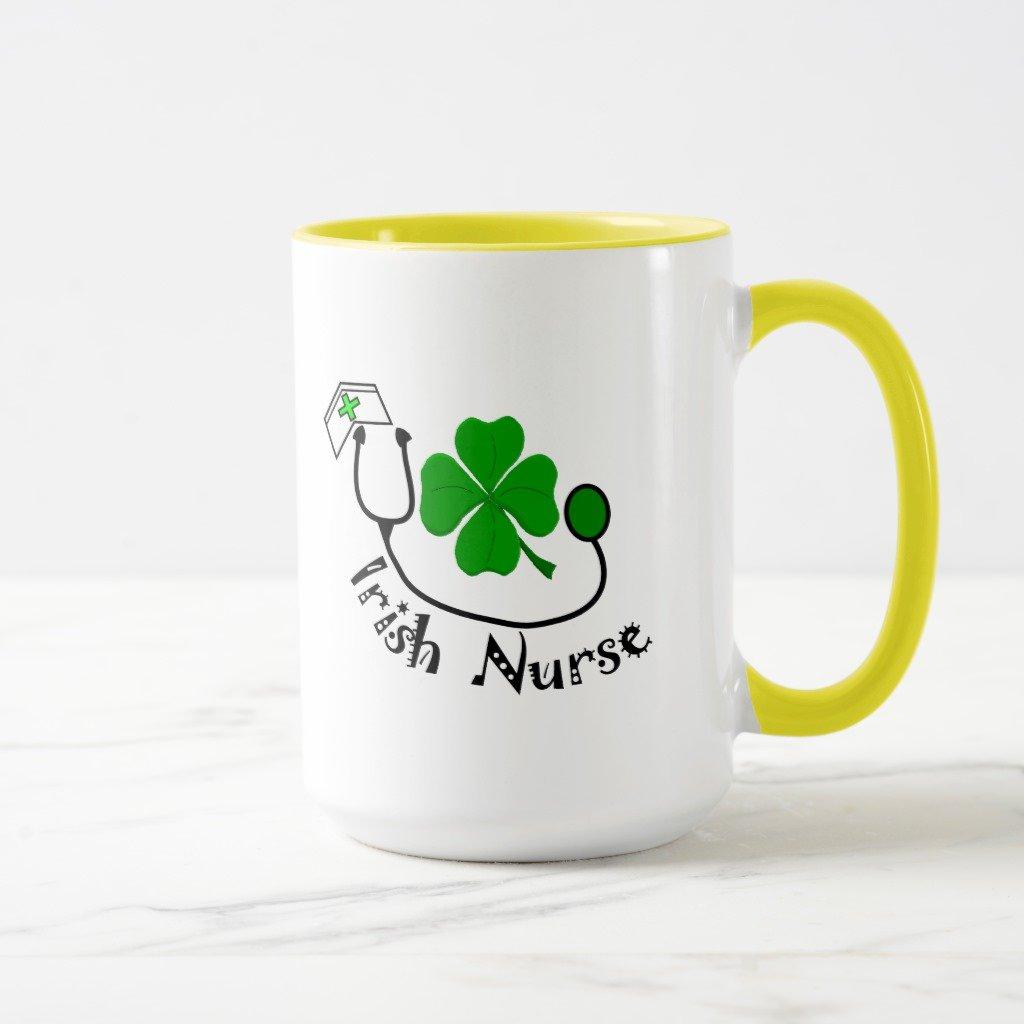 【信頼】 ZazzleアイルランドNurseギフト、緑クローバーデザインコーヒーマグ 15 Mug oz, Combo Mug B078VZJQ5L イエロー dac0b8d4-6535-3b61-81d5-e118b1466fc6 Mug 15 oz, Combo Mug イエロー B078VZJQ5L, gmall:e752a950 --- brp.inlineteambrugge.be