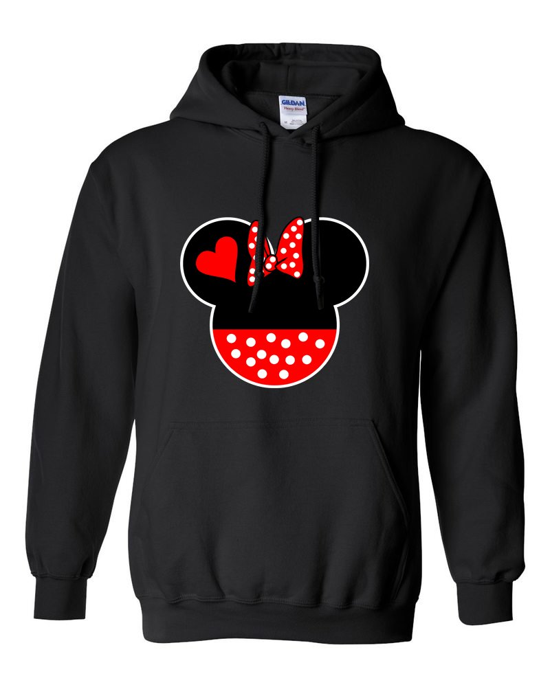 Natural Apparel Hoodies For Women Minnie Mouse Head Disney Most Popular Shirts (Black,Large)