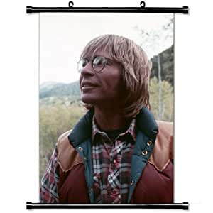 Home Decor Art Movie Poster with John Denver Trees Nature Glasses Shirt Wall Scroll Poster Fabric Painting 23.6 X 35.4 Inch (60cm X 90 cm)
