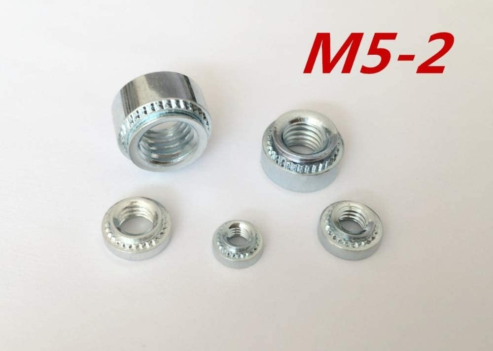Nuts 10pcs//lot M5-2 M5 Press nut clinching Nut Steel zinc Plated Rivet Nuts Inserting self clinching Nuts
