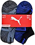 Puma - Boys' 6-Pack Low Cut Cushioned Socks, Blue/Gray 9-11