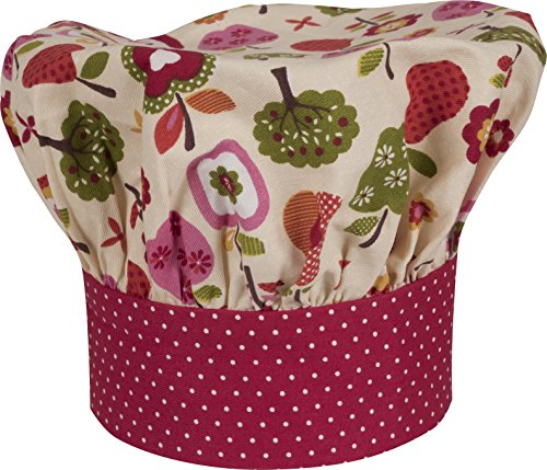 Handstand Kitchen Child's 100% Cotton 'An Apple a Day' Adjustable Band Chef's Hat by Handstand Kitchen