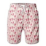 Summer Shorts Pants Tulips Dusty Pink Swim Trunks