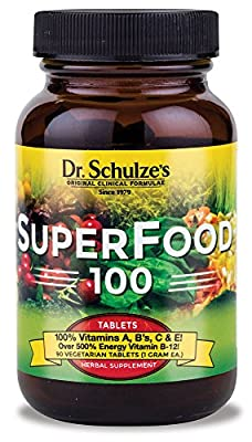 Dr. Schulze's SuperFood 100 Vitamin and Mineral Herbal Supplement Tablets (90 count)