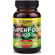 Dr. Schulze's SuperFood 100 Vitamin and Mineral Herbal Supplement Tablets (...