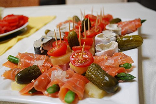 Gifts Delight Laminated 28x19 Poster: Finger Food Platter mmm i just Felt Like Smoked Salmon and Pickles and rollmops
