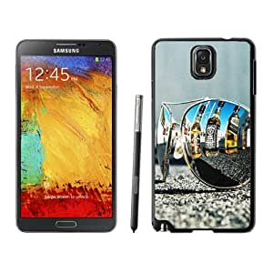 Fashionable Custom Designed Samsung Galaxy Note 3 N900A N900V N900P N900T Phone Case With Sunglasses Whiskey Bottles Reflection_Black Phone Case